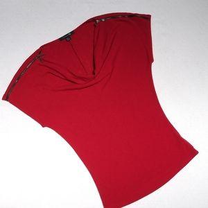 Forever 21 Cowl Neck Zipper Sleeve Top